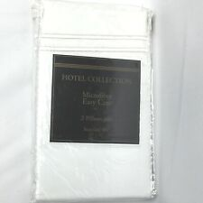 Hotel Signature Collection Pillowcases Standard Size White Microfiber Easy Care