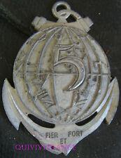 TB008 - MEDAILLE PLAQUE 5° Régiment Inter Armes d'Outre Mer