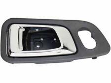 Honda Pilot 03-08 Inner Front LH Driver Gray bezel with chrome lever Door Handle