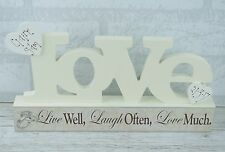 Personalised Wedding Plaque Live Laugh Love Block Anniversary 29cm SG1609/C
