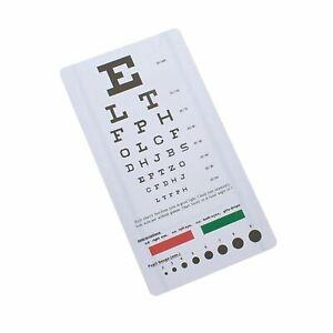 Snellen Pocket Eye Chart Wall Chart for Visual Acuity - AsaTechmed