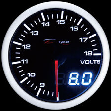 60mm Depo Racing Digital Volt Battery charge gauge White Red Smoked WA6091LED