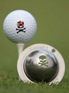 Tin Cup Jolly Roger Skull and Crossbones Golf Ball Design Marker Stencil