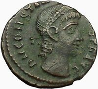 CONSTANTIUS II Constantine the Great son Roman Coin Wreath of success  i34992