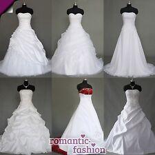 ♥ top vestido de novia vestido de novia blanco talla 34 hasta 54 muchos modelos para elegir nuevo + ♥