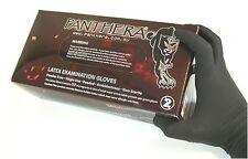 100 x BLACK PANTHERA TATTOO GLOVE - EXTRA SMALL - POWDER FREE. tattooists No 1