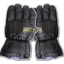 Mens Ski  Gloves black THERMAL PADDED WARM GLOVES NEW