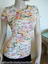 Auth TORN by RONNY KOBO Floral Print Blouse, Size S