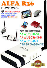 Alfa R36A WiFi Wireless N Router/Repeater for AWUS036NH , Alfa Tube  UN
