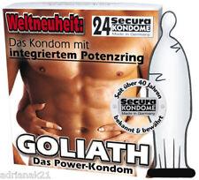 Preservatif X 24 Préservatifs Goliath Bague Erection
