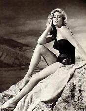 ANITA EKBERG Vintage 8X11 Pin-up Print Smokin' Hot Photo Incredible Sexy Legs!