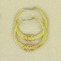Gold Hammered Hoop Earrings Brass Copper Sterling Jewelry Artisan Made Taxco