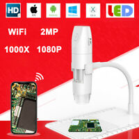 WiFi HD 1080P 8LED 1000X Digital Microscope Magnifier Camera USB for Android iOS