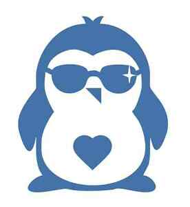 Little Penguin with Shades #1 - 1031 - Sticker / Decal / Stencil - Made to Order