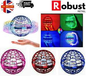 RR Pro Flying Ball Space Orb Spinner UFO Mini Drone Remote Control NEW UK STOCK