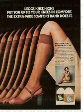 1977 Leggs Knee Highs Vintage Magazine Ad Women's Stockings