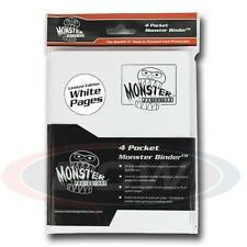 Monster Protector Album Binder 4 Pocket - White With 20 White Pages