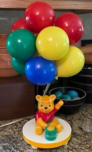 Vintage 1980 Winnie The Pooh Bear Balloons Lamp & Hunny Pot