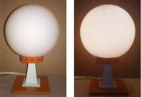 Lampe de bureau métal orange vintage ancienne boule blanche former desk lamp
