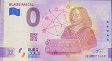 BILLET 0  EURO BLAISE PASCAL  FRANCE   2021 NUMERO  DIVERS