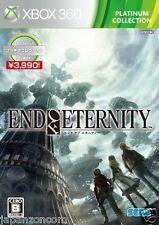 Used Xbox 360 End of Eternity Platinum MICROSOFT JAPAN JAPANESE JAPONAIS IMPORT
