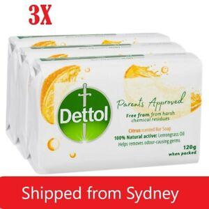3X DETTOL SOAP PARENTS APPROVED CITRUS BAR SOAP 120g BRAND NEW - 5 pack