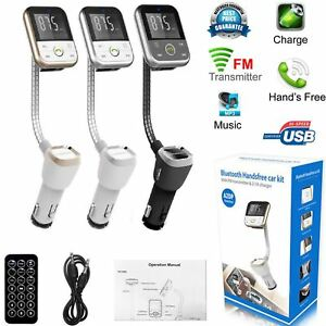 Bluetooth Kabellos Handsfree Auto Fm Transmitter SD MP3 Player USB Ladegerät