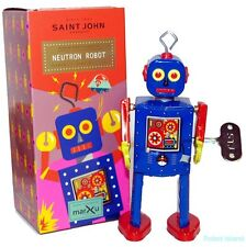 Tin Toy Robot Windup Neutron Man St. John Toys Edition