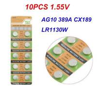 AG10 For Watch Toys Remote 189 LR54 Cell Coin Alkaline Battery 1.55V 389A LR1130
