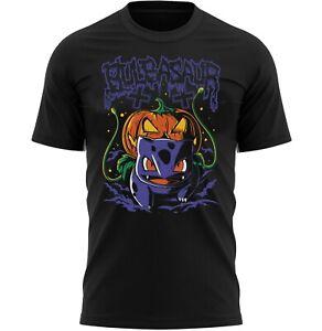 Pumpkin Bulbasaur Halloween T-Shirt Adults Novelty Scary Shirt Top Gift For Men