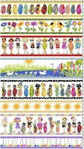 """Loralie Designs Fabric """"Golf Borders """" Golf Print by the Panel"""