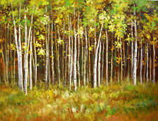 """Floral & Gardens Oil Painting - Spring Forrest - size 36""""x28"""""""