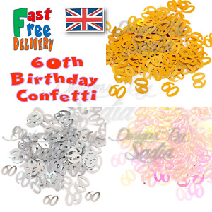 60th Age Birthday Confetti Scatter Table Party Celebration