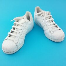 ADIDAS SUPERSTARS ALL WHITE TRAINERS  SIZE UK 3 1/2