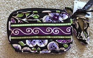Vera Bradley Tech Case Wristlet Plum Petals NWT 3.5 X 5