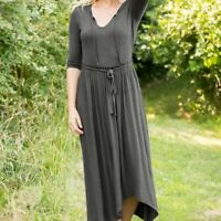 Matilda Jane Sz M Choose Your Own Path Go West Maxi Dress Women's Gray #2222