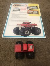 Matchbox Super Chargers Wagon Wheels Monster Truck Pickup And Promotion Ad!