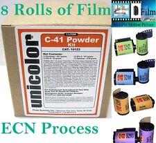 Ultrafine Unicolor C-41 Kit with 8 Rolls of Kodak Motion Picture MotiPix Film