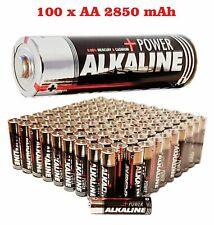100 x AA  R6 ,Alkaline 2850 mAh  23 g  Haltbar 12/2023 No Varta, No Duracell