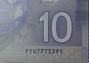 * ERROR PRINTING * FAT 7 * Gem UNC Canada $10 2013 polymer bill Bank Notes FTU