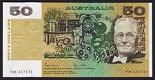 Fifty Dollars $50 Australian Banknote 1983 Johnston Stone R508