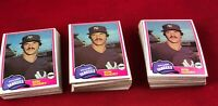 Lot of 140 Cards 1981 Topps Ron Guidry Baseball Card # 250  RG1