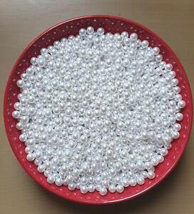 100pcs  8mm  Beads,  No Hole ,Round Pearls  Acrylic Beads Jewelry  Making DIY