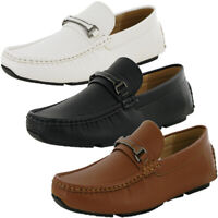 Mens Designer Slip On Faux Leather Shoes Loafers Moccasins Driving Boat Shoes...