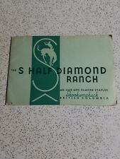 The S HALF DIAMOND RANCH  Broucher with 1937 Rate Sheet,  British Columbia , Can