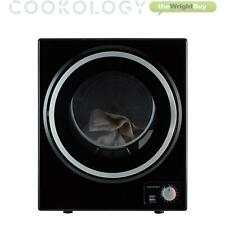 Cookology CMVD25BK Black Mini Table Top Vented Tumble Dryer 2.5kg Portable