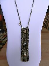 $65 Betsey Johnson Three Tier Woodland Critters Charm Necklace  Hard to Find