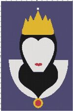 Handmade Snow White Queen Silhouette DIGITAL Counted Cross-Stitch Pattern Chart
