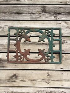 Antique Cast Iron Floor Wall Grate Register Cover Architectural Salvaged Hearts
