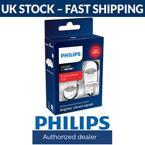 Philips X-tremeUltinon gen2 LED X-treme Ultinon W21W Red LED Car Bulbs (Twin)